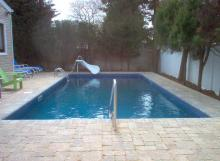 Inground Pool with Low Profile Slide